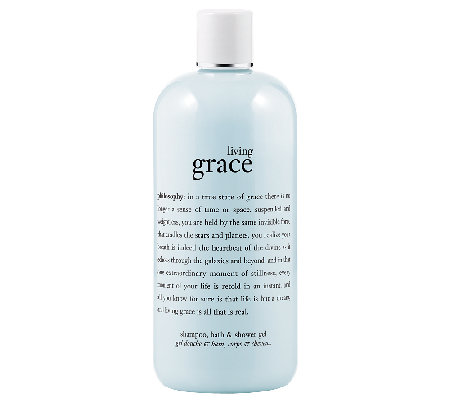 philosophy living grace shower gel, 16 oz