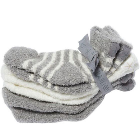 Barefoot Dreams CozyChic Lite Infant Sock Set - Three-Pack