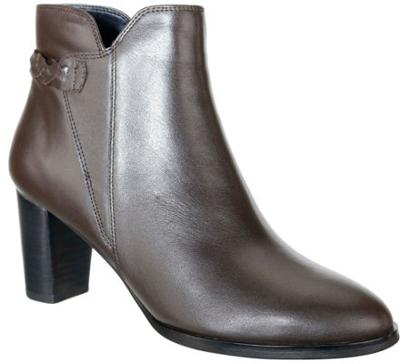 David Tate Leather Ankle Boots - Doran