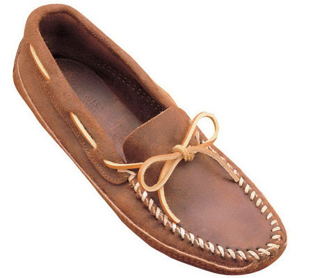 Minnetonka Men's Double Bottom Softsole Moccasins - Brown Ruff