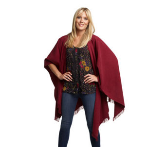 Luxe Rachel Zoe Wrap Shawl with Fringe - A209419