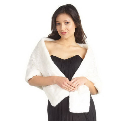 Luxe Rachel Zoe Faux Fur Stole with Pockets
