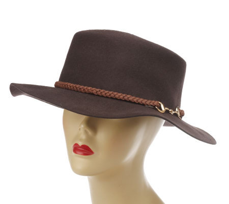 Collection XIIX Wool Gaucho Hat with Braided Trim and Link