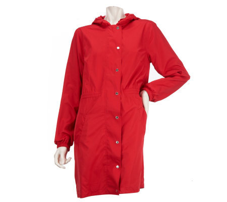 Liz Claiborne New York Anorak Jacket with Removable Hood