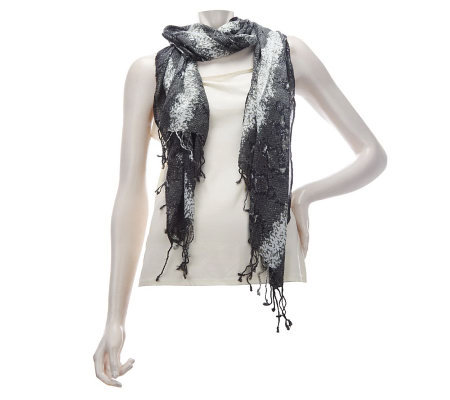 Layers by Lizden Rayon Snake Print Scarf