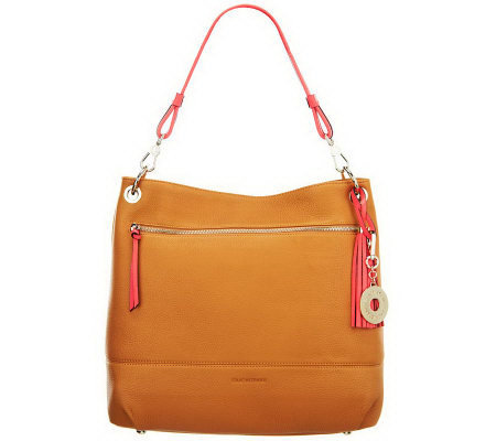 Isaac Mizrahi Live! Bridgehampton Pebble Leather Hobo