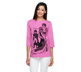 Bob Mackie's Legendary of Queen 3/4 Sleeve T-Shirt - A234119