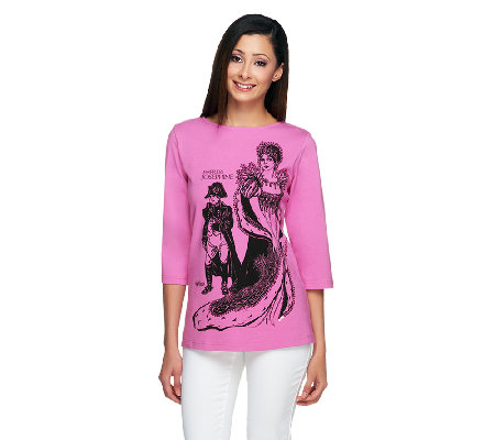 Bob Mackie's Legendary of Queen 3/4 Sleeve T-Shirt