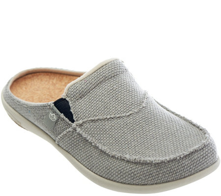 Spenco Siesta Slide Orthotic Slip-on Shoes w/ Woven Detail