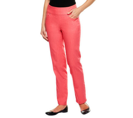 Denim & Co. Regular Perfect Denim Smooth Waist Straight Leg Jeans