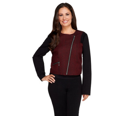 View by Walter Baker Cropped Asymmetrical Zip Jacket