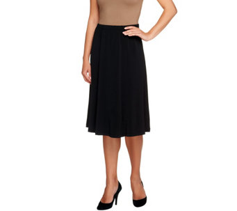 Bob Mackie's Solid Knit Pull-On Skirt - A257719
