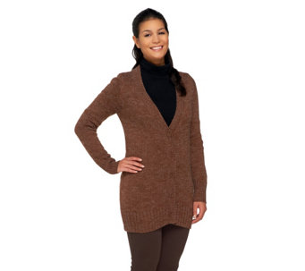 Linea by Louis Dell'Olio Long Sleeve V-Neck Cardigan - A259619