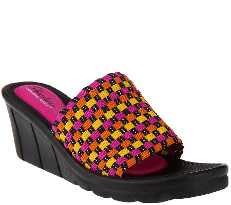 Skechers Stretch Woven Wedges - Promenade Shopper