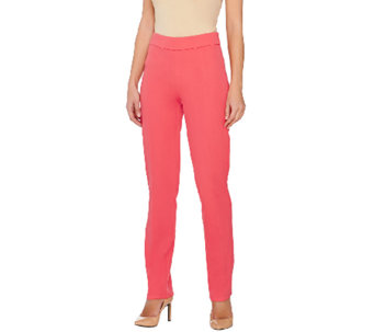 Isaac Mizrahi Live! Regular 24/7 Stretch Side Zip Pants - A263919