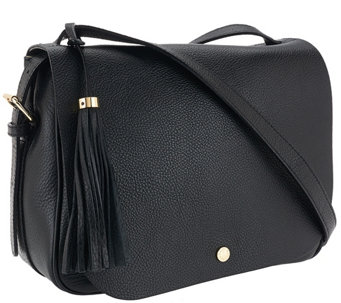 Isaac Mizrahi Live! Nolita Pebble Leather Saddle Bag - A267719