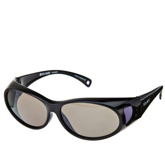 Solarite Fits Over Classic Style Sunglasses with Microfiber Case - A269119