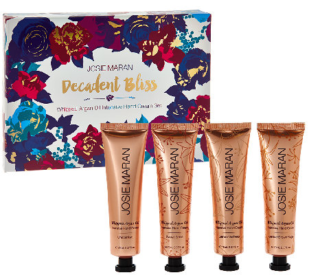 Josie Maran 4-pc Whipped Argan Oil Hand Cream Super Soft Set