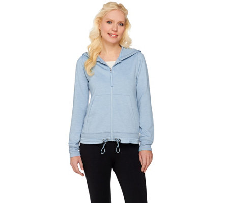 LOGO Lounge by Lori Goldstein French Terry Hoodie with Ribbed Cuffs