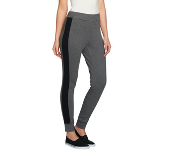 Isaac Mizrahi Live! SOHO Leggings w/ Contrast Side Panels - A274619