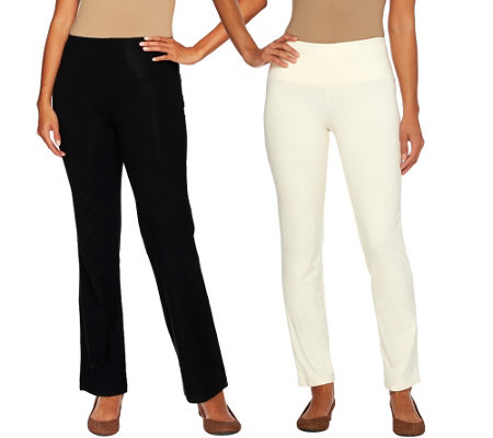 """As Is"" Women with Control Regular Tummy Control Boot Cut Ankle Pants"