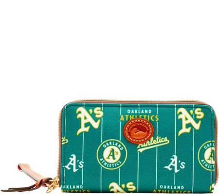 Dooney & Bourke MLB Nylon Athletics Zip Around Phone Wristlet