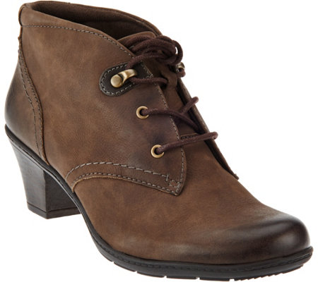 Earth Origins Leather Lace-up Ankle Boots - Devin