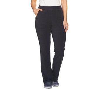 Denim & Co. Active Fleece Lightly Boot Cut Pant - A284619