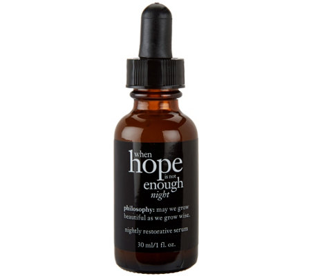 philosophy when hope is not enough night serum, 1 fl oz
