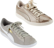 PUMA Metallic or Suede Lace-up Sneakers-Vikky