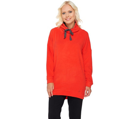 """As Is"" Cuddl Duds Fleecewear Stretch Long Sleeve Tunic"
