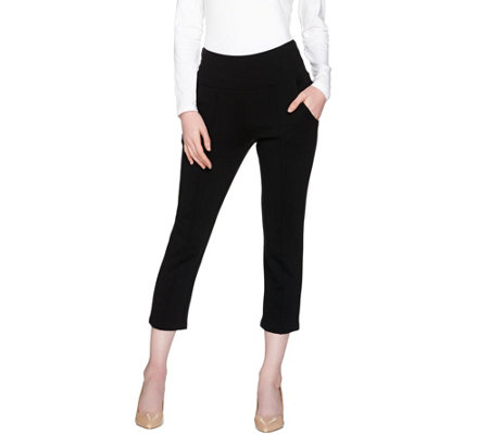 """As Is"" Belle by Kim Gravel Tummy Smoothing Ponte Capri Pants"