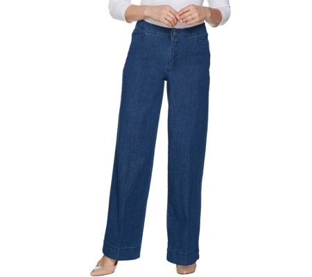 Isaac Mizrahi Live! Tall 24/7 Denim Wide Leg Pants
