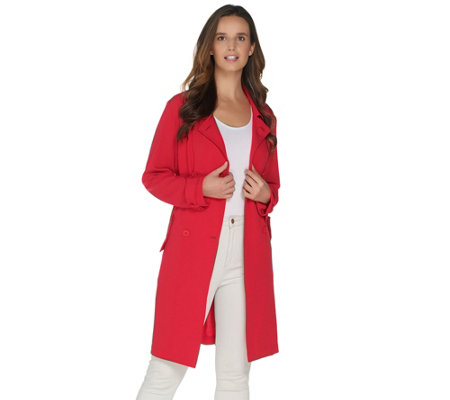 BROOKE SHIELDS Timeless Lightweight Trench Coat