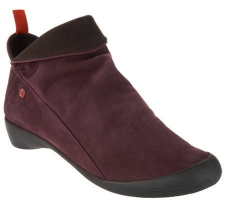 """As Is"" Softinos by FLY London Leather Low Ankle Boot- Farah"