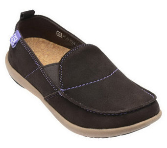 Spenco Siesta Leather Orthotic Slip-ons - A330319