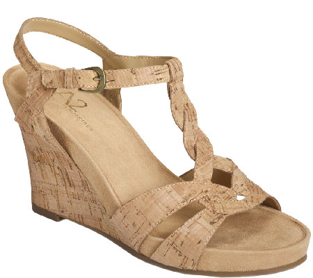 A2 by Aerosoles Core Comfort Wedges - Stone Plush