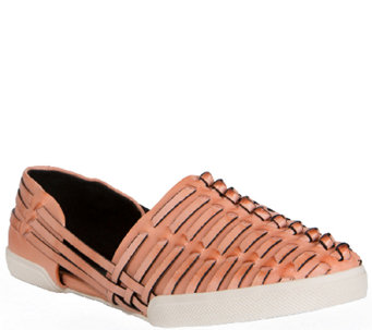 Elliott Lucca Woven Leather Slip-On Sneakers -Rani - A336319