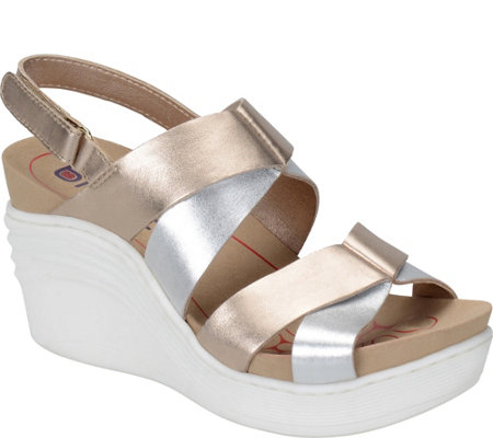 Bionica Nubuck Leather Wedge Sandals - Splendor