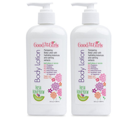 Good For You Girls Honeydew Body Lotion 2-Pack