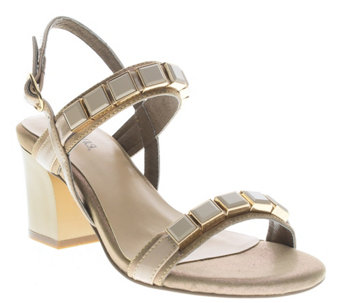 Azura by Spring Step Block Heel Sandals - Pure - A339719