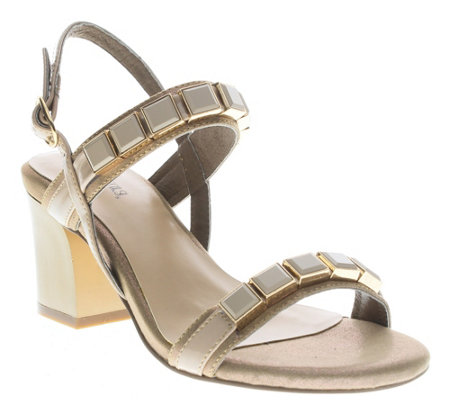 Azura by Spring Step Block Heel Sandals - Pure
