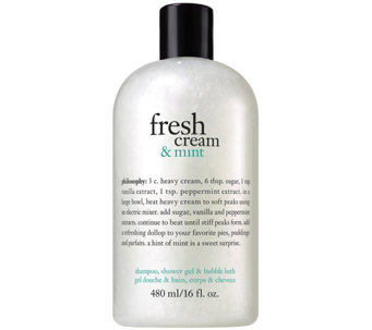 philosophy fresh cream and mint shower gel, 16oz - A340819