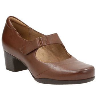Clarks Artisan Leather Mary Jane Pumps - Rosalyn Wren - A341219