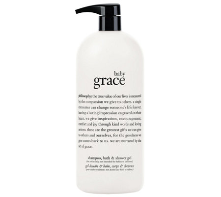 philosophy baby grace shampoo, bath, and showergel, 32 oz
