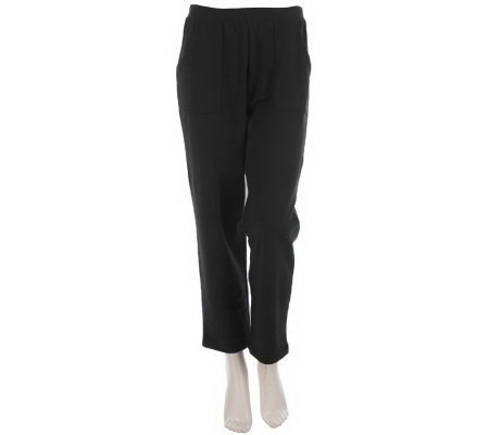 Sport Savvy Essentials Stretch French Terry Petite Ankle Pants