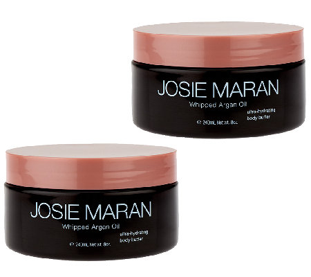 Josie Maran Whipped Argan Body Butter Duo Vanilla Apricot & Sweet Citrus