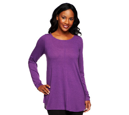 Attitudes by Renee Scoopneck Tunic with Seam Detail