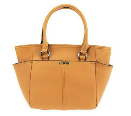 Tignanello Glove Leather French Tote with Back Pocket