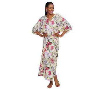 Joan Rivers Regular Length Social Butterfly Caftan - A233520